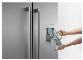 "RF201ACUSX1 DCS 36"" French Door Counter Depth Refrigerator with ActiveSmart Technology - Stainless Steel"