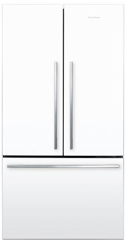 "RF201ADW5N Fisher Paykel ActiveSmart Refrigerator - 20.1 cu ft. Counter Depth French Door 36"" - White"