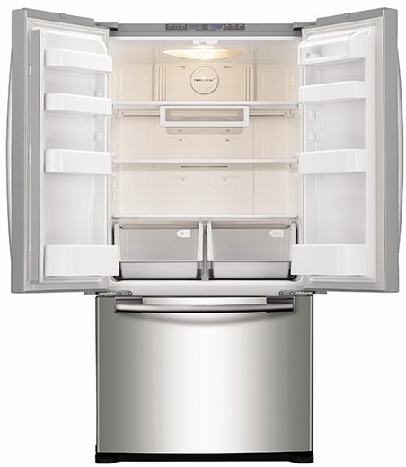 Rf20hfenbsr samsung 33 wide 20 cu ft capacity french for 17 cu ft french door refrigerator