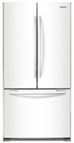 "RF20HFENBWW Samsung 33"" Wide, 20 cu. ft. Capacity French Door Refrigerator with Ice Maker- White"