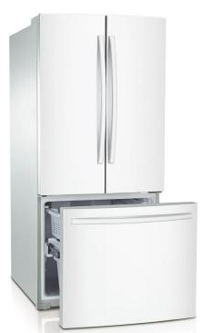 Beau 30 Inch French Door Refrigerator   White