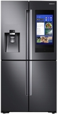 """RF22N9781SG Samsung 36"""" 22 Cu. Ft. Counter Depth 4-Door French Door Refrigerator with Family Hub and Triple Cooling System - Finger Print Resistant Black Stainless Steel"""