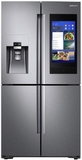 "RF22N9781SR Samsung 36"" 22 Cu. Ft. Counter Depth 4-Door French Door Refrigerator with Family Hub and Triple Cooling System - Finger Print Resistant Stainless Steel"