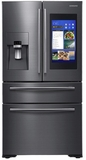"""RF22NPEDBSG Samsung 36"""" 21.5 Cu. Ft. Counter Depth 4-Door French Door Refrigerator with Family Hub and Twin Cooling Plus - Black Stainless Steel"""