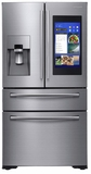 "RF22NPEDBSR Samsung 36"" 21.5 Cu. Ft. Counter Depth 4-Door French Door Refrigerator with Family Hub and Twin Cooling Plus - Stainless Steel"