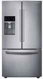 "RF23HCEDBSR Samsung 36"" Wide, 23 cu. ft. Counter Depth Capacity French Door Refrigerator with Twin Cooling - Stainless Steel"