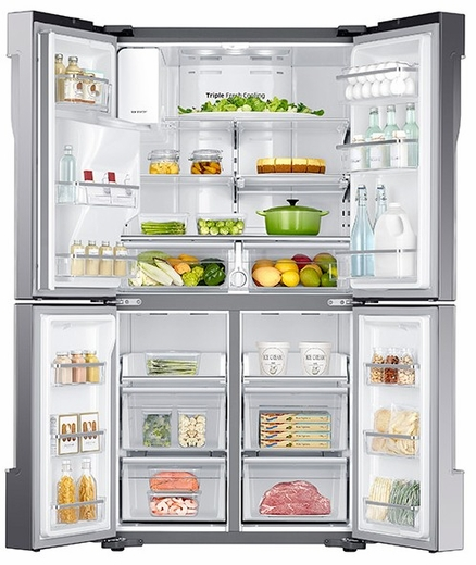 Bon RF23J9011SR Samsung 23 Cu. Ft. Counter Depth 4 Door French Door Refrigerator  With Cool Select Plus   Stainless Steel