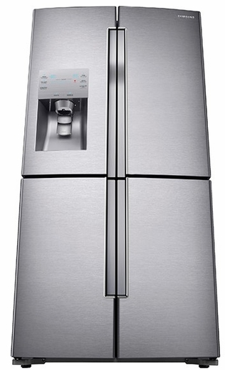 RF23J9011SR Samsung 23 Cu. Ft. Counter Depth 4-Door French Door Refrigerator with Cool Select Plus - Stainless Steel