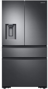 "RF23M8070SG Samsung 36"" 22.7 cu. ft. Counter Depth French 4 Door Refrigerator with Twin Cooling Plus and FlexZone Drawer - Black Stainless Steel"