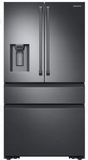 "RF23M8090SG Samsung 36"" 22.7 cu. ft. Counter Depth French 4 Door Refrigerator with Twin Cooling Plus and FlexZone Drawer - Black Stainless Steel"