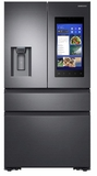 """RF23M8570SG Samsung 36"""" 22.2 cu. ft. Counter Depth 4 Door Refrigerator with Family Hub 2.0 and Twin Cooling Plus - Black Stainless Steel"""