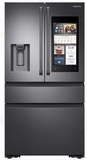 "RF23M8590SG Samsung 36"" 22.2 cu. ft. Counter Depth 4 Door Refrigerator with Family Hub 2.0 and Twin Cooling Plus - Black Stainless Steel"