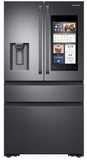 """RF23M8590SG Samsung 36"""" 22.2 cu. ft. Counter Depth 4 Door Refrigerator with Family Hub 2.0 and Twin Cooling Plus - Black Stainless Steel"""