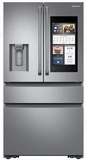 "RF23M8590SR Samsung 36"" 22.2 cu. ft. Counter Depth 4 Door Refrigerator with Family Hub 2.0 and Twin Cooling Plus - Stainless Steel"