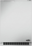 """RF24RE3 DCS 24"""" Outdoor Undercounter Refrigerator with Door Alarm & Digital Control Panel - Right Hinge - Brushed Stainless Steel"""