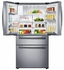 "RF25HMEDBSR Samsung 33"" 25 cu. ft. Capacity 4-Door French Door Refrigerator - Stainless Steel"