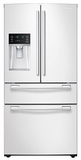 "RF25HMEDBWW Samsung 33"" 25 cu. ft. Capacity 4-Door French Door Refrigerator - White"