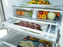 """RF261BEAEWW Samsung 36"""" French Door Refrigerator with Twin Cooling Plus and Cool Select Pantry - White"""