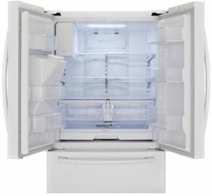 RF263BEAEWW Samsung 26 cu.ft. French Door Refrigerator with External Water & Ice Dispenser - White