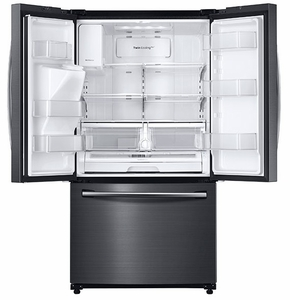 "RF263BEAESG Samsung 36"" Wide, 25 cu.ft. French Door with External Water & Ice Dispenser - Black Stainless Steel"