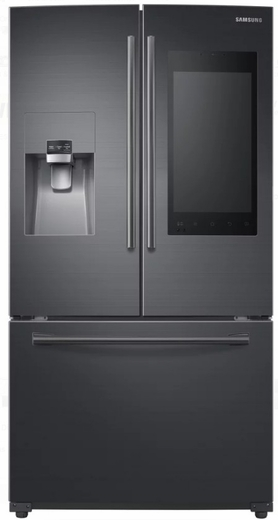 """RF265BEAESG Samsung 36"""" 24.2 cu. ft. French Door Flex Refrigerator with Family Hub 2.0 and Twin Cooling Plus - Black Stainless Steel"""