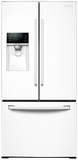 "RF26J7500WW Samsung 33"" Wide 26 cu. ft. Capacity 3-Door French Door Refrigerator with CoolSelect Pantry - White"