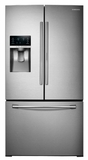RF28HDEDBSR Samsung 28 cu. ft. Capacity 3-Door French Door Food ShowCase Refrigerator - Stainless Steel