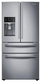 "RF28HMEDBSR Samsung 36"" 28 cu. ft. 4-Door French Door Refrigerator - Stainless Steel"