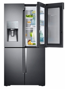 "RF28K9380SG Samsung 36""  28 cu. ft. 4 Door Flex Refrigerator with FlexZone - Black Stainless Steel"