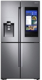 "RF28N9780SR Samsung 36"" 28 Cu. Ft. 4-Door French Door Refrigerator with Family Hub and Triple Cooling System - Finger Print Resistant Stainless Steel"