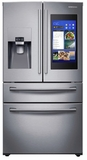 "RF28NHEDBSR Samsung 36"" 28 Cu. Ft. 4-Door French Door Refrigerator with Family Hub and Twin Cooling Plus - Stainless Steel"