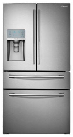 RF30HBEDBSR Samsung 30 cu. ft. Capacity 4-Door French Door Food ShowCase Refrigerator - Stainless Steel