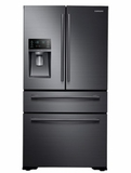 "RF30KMEDBSG 36"" Samsung 30 cu. ft. Ultra Capacity 4 Door French Door Refrigerator  with FlexZone Drawer and Twin Cooling Plus  - Black Stainless Steel"