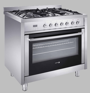 RFA365DF Fagor Dual Fuel Range with Dual Convection Fans - Stainless Steel