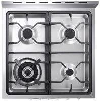 """RFA244DF Fagor 24"""" Dual Fuel European Convection Range with Rotisserie - Stainless Steel"""
