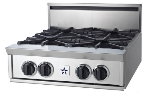 "RGTNB24CBV2N BlueStar 24"" Natural Gas Rangetop - All Charbroiler - Stainless Steel"