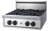 "RGTNB24FTV2N BlueStar 24"" Natural Gas Rangetop - All French Top - Stainless Steel"