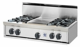 "RGTNB366BV2N BlueStar 36"" Natural Gas Rangetop - 6 Burners - Stainless Steel"