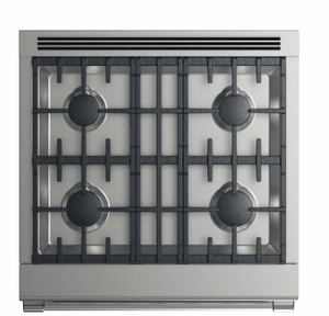 """RGV2304NN Fisher & Paykel 30"""" Natural Gas Range with 4 Burners and LED Halo Control Dials - Stainless Steel"""