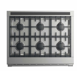 """RGV2366LN Fisher & Paykel 36"""" Liquid Propane Gas Range with 6 Burners and LED Halo Control Dials - Stainless Steel"""