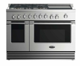 "RGV2485GDL DCS 48"" Liquid Propane Gas Range with 5 Burners and Griddle - Stainless Steel"