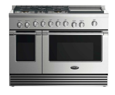 """RGV2485GDL DCS 48"""" Liquid Propane Gas Range with 5 Burners and Griddle - Stainless Steel"""