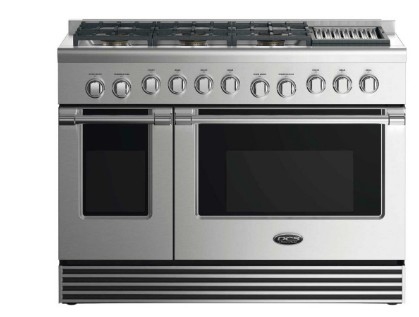 """RGV2486GLN DCS 48"""" Natural Gas Range with 6 Burners and Grill - Stainless Steel"""
