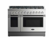 "RGV2488L DCS 48"" Liquid Propane Gas Range with 8 Burners and LED Halo Controls  - Stainless Steel"