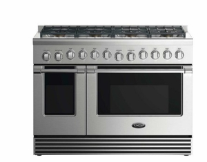 """RGV2488N DCS 48"""" Natural Gas Range with 8 Burners and LED Halo Controls  - Stainless Steel"""