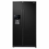 "RH25H5611BC Samsung 36"" Wide, 24.7 cu. ft. Capacity Side-by-Side Food ShowCase Refrigerator with Metal Cooling - Black"