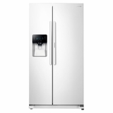 "RH25H5611WW Samsung 36"" Wide, 24.7 cu. ft. Capacity Side-by-Side Food ShowCase Refrigerator with Metal Cooling - White"