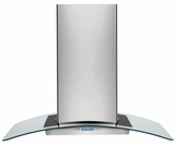 "RH36PC60GS Frigidaire 36"" Designer Glass Canopy Island-Mount Hood - Stainless Steel"