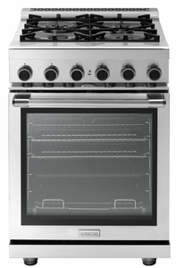 "RN241GPSS Superiore 24"" NEXT Gas Range with Panorama Widescreen and Analog Thermometer - Stainless Steel"