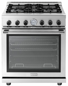 "RN301GPSS Superiore 30"" NEXT Gas Range with Panorama Door and Extra Large Gas Oven - Natural Gas - Stainless Steel"
